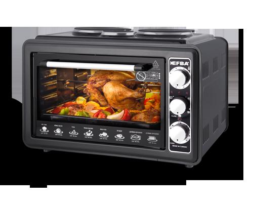 1008 Aurora Three Hotplate Chicken Dial Oven