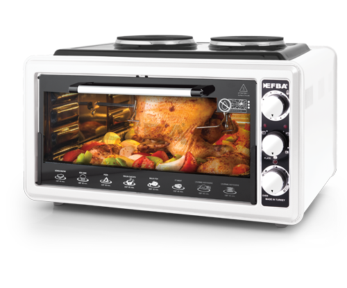 2007 Glamorous Two Hotplate Chicken Dial Oven